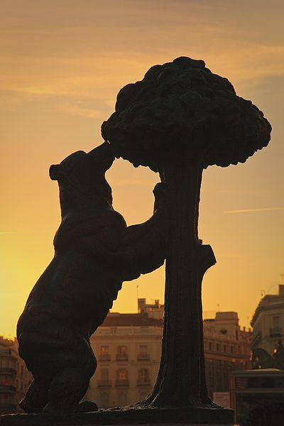 Fotografía del Oso y el Madroño de la Puerta del Sol, Madrid