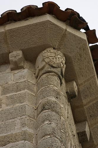Escudo del Athletic de Bilbao en la iglesia de Santa María la Mayor de Trujillo
