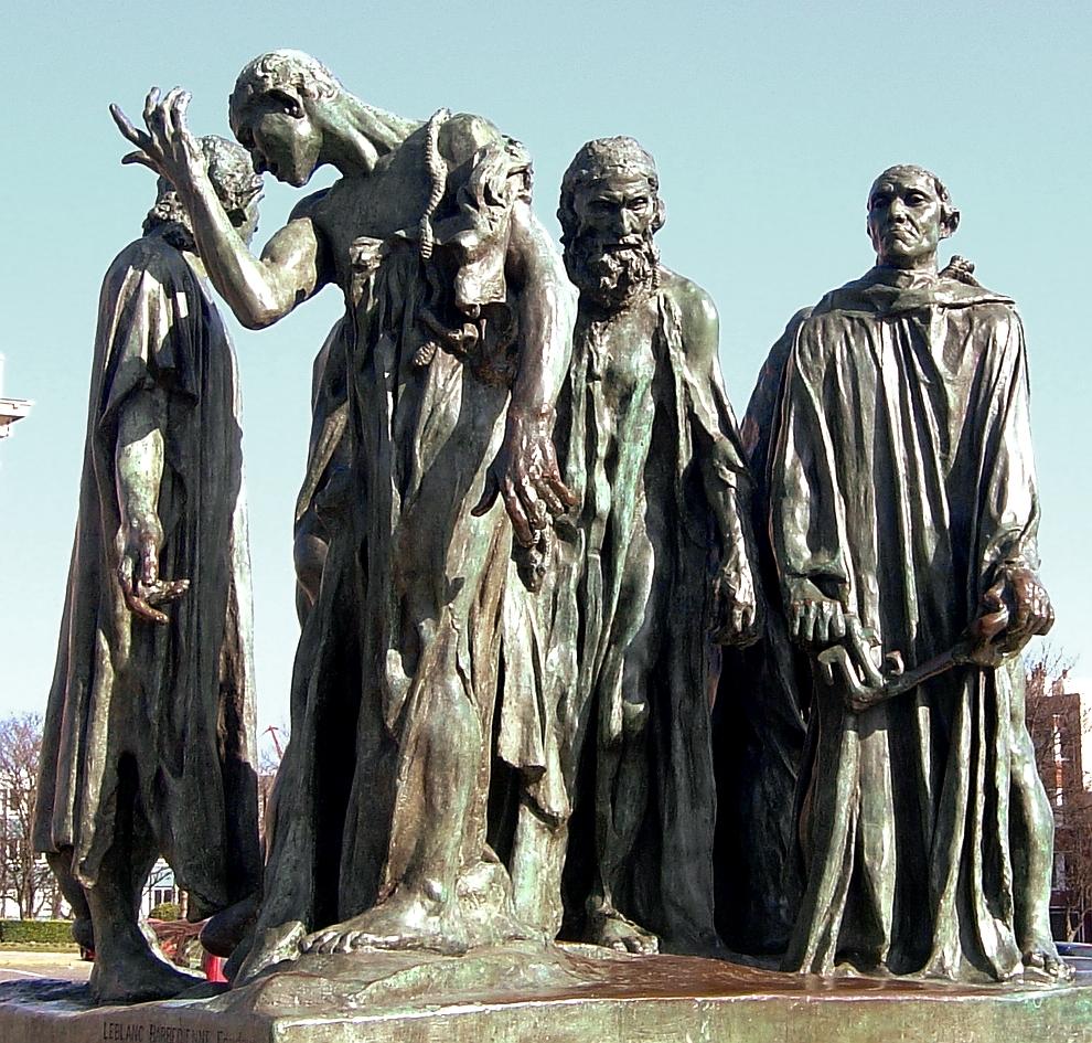 Los burgueses de Calais, de Auguste Rodin