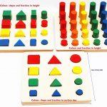 Figuras geométricas de Madera y Formas de Fracciones, de Toys of Wood Oxford