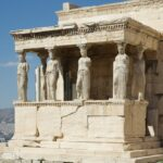 Las Cariátides del Erecteion (en Atenas, Grecia)