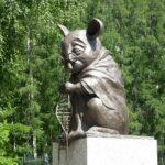 Monumento al ratón de laboratorio, en Novosibirsk, Rusia